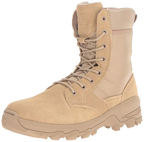 5.11 Tactical Men's Leather Speed 3.0 Side Zip Combat Military Desert Boots, Coyote, 44.5 EU Wide, Style 12337