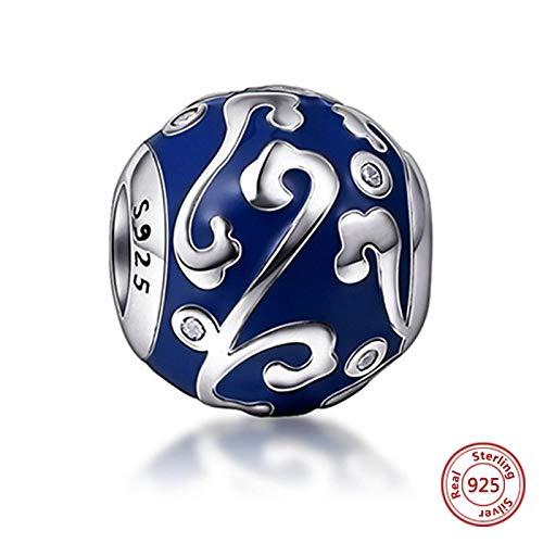 DASFF Neue fit Original Armband Silber 925 Antike Farbe Emaille Charms Perlen CZ Stein DIY Schmuck Machen für Frauen Geschenk P6130