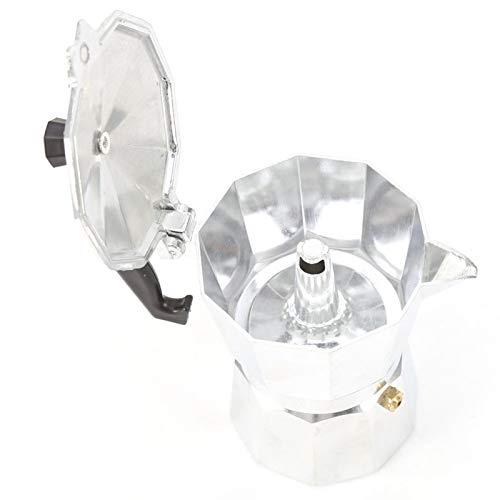 KUIKUI - Cafetera de espresso de aluminio, 3/6/9/12 tazas Moka de tipo italiano, estufa de cafetera espresso para uso en el hogar y la oficina(300ML 6cups)