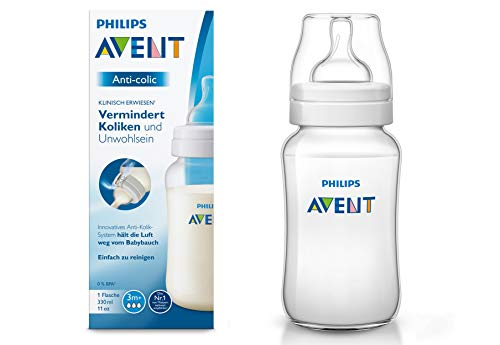 Philips Avent SCF816/17 - Biber贸n Anti-colic de 330 ml, transparente