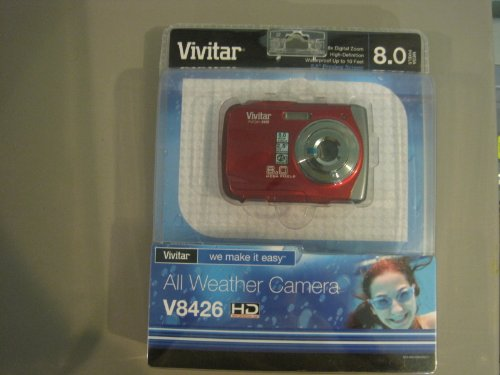 Vivitar All Weather Digital Camera V8426HD Red