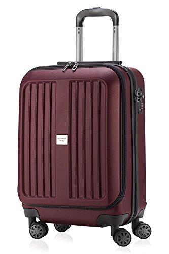HAUPTSTADTKOFFER - X-Berg - Carry on luggage On-Board Suitcase Cabin Bag Hardside Spinner Trolley 4 Wheel, TSA, 55 cm,Burgundy mat