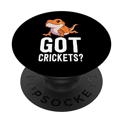 Got Crickets Bearded Dragon Shirt Funny Reptile Mom Gift PopSockets PopGrip: Agarre intercambiable para Teléfonos y Tabletas
