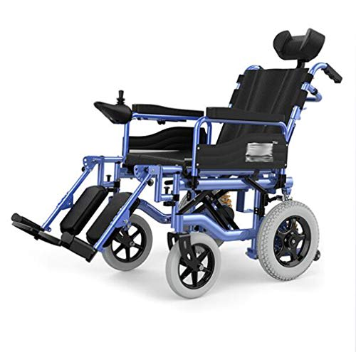 YOLL Silla de Ruedas eléctrica Power Chair con reposacabezas,Silla De Ruedas Plegable...