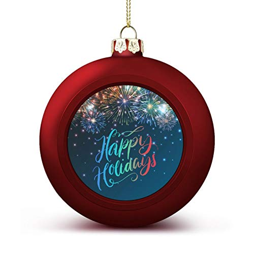 MOEEZE Christmas Balls Happy Holidays Xmas Ball Ornaments Lightweight Hanging Balls Tree Decorations