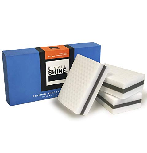 Simple Shine 3 Premium Shoe Erasers Clean Sneakers Dress Shoes Magic Cleaner Stains and Marks Eraser