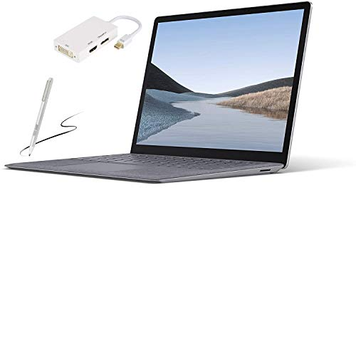Microsoft Surface Laptop 3 – 13.5' Touch-Screen – Intel Core i5 - 8GB Memory - 128GB Solid State Drive (Latest Model) – Platinum with Alcantara (Renewed) Bundle: Pen and GIZPRO USB-C Dock
