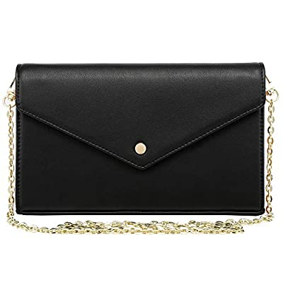 Miracle Checkered Cross Body Bag   Chain Wallet Clutch with Credit Card Slots   Evening Purse - PU Vegan Leather