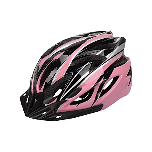 Unisex Fietshelm, Geschikt voor Alle Soorten Fietsers-Roze Zwart