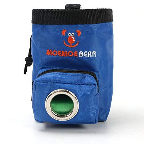 Nsdsb Adiestramiento de Perros Bolsas para premios Bolsa de alimentación para Mascotas Recompensa de bocadillos Bolsillo en la Cintura Azul
