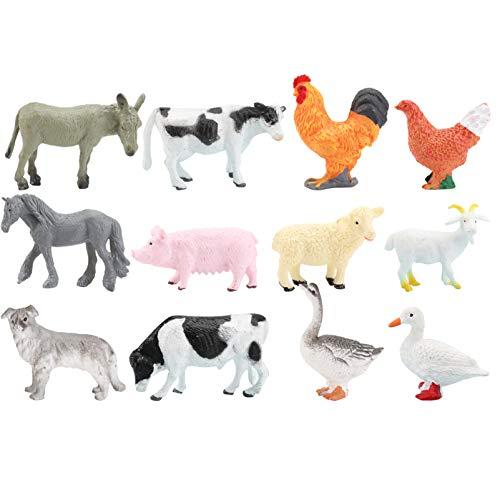 TOYANDONA 12 Unids Animal Juego de Simulación Modelo Realista Animales de Granja Juguete Aves de Corral Decoración Simulación Aves de Corral Niños Juguete Juego Educativo