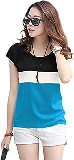 Fraulein Girl's/Women's Tops Soft Light Crepe Regular Fit Short Sleeve Round Neck Tops