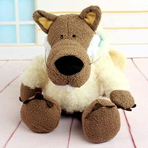 Anime piel de oveja lobo muñeco de peluche lindo lobo disfrazado transformado en lobo muñeco de peluche regalo 35 cm