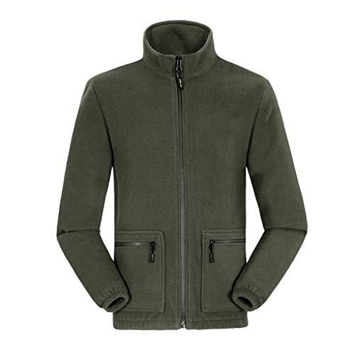 ღJiaMeng Herren Warm Halten Samt Mantel Winter Stehkragen Tops Sweatshirts Mode Freizeit Langarm Jacke Patchwork mit Reißverschluss Sakkos