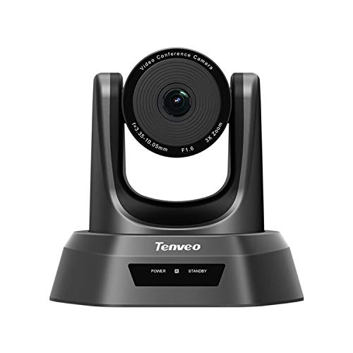 Tenveo Conference Room Camera 3X Optical Zoom HD1080P USB PTZ Video Conference Camera for Business Meetings (FR-NV3U)