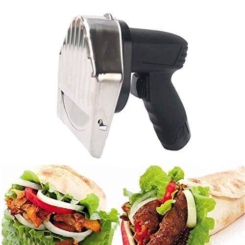 HYDDG Professionelles elektrisches Kebabmesser Drahtloses 12-V-80-W-Akku-Akku-Handgrillschneider mit gezahntem Klingen-Gyro-Messer