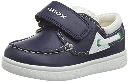 Geox B Djrock Boy C, Mocasines para Bebés, Azul (Navy/White C4211), 23 EU