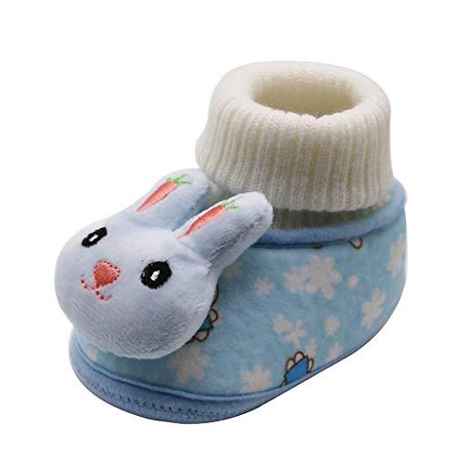 catmoew Kinder Baby Stiefel Baby Cartoon niedlichen Kaninchen Stiefel Warme Stiefel Neugeborenes Elastische Kinderschuhe Winterstiefel Warme Enge Schuhe