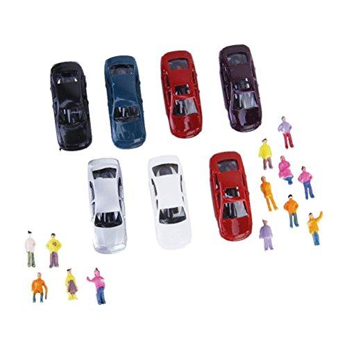VORCOOL 50pcs Modèle mini voitures de modélisme Train Layout échelle N (1 à 150)