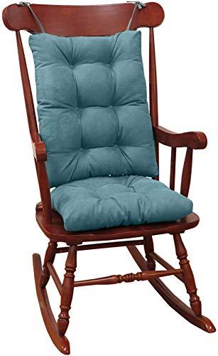 Klear Vu Twillo Overstuffed Rocking Chair Cushion Set, Seat 17' x 17' and Seatback 21' x 17', Marine