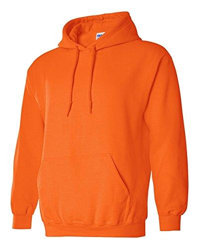 ギルダン GILDAN パーカー フ-ド スエット 長袖 米国ブランド ヘビーブレンド 8oz エコテックスラベル認定ブランド サイズ XS(YL)~2XL 31色 18500 (L, オレンジ) [並行輸入品]