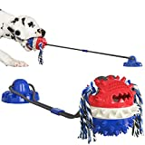 LiRiQi Molar Multifuncional para Mascotas, Pet Molar Bite Toy, Palo de Cepillo de Dientes, Juguete para Perros con Ventosa,Juguete masticable para masticadores agresivos, Cuidado Dental para Perros
