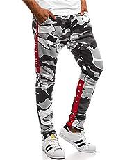 Warm string メンズ 迷彩 ズボン スリム ジョガーパンツ 迷彩柄 ズボン ポケット付き ウエストゴム スウェット ロングパンツ スポーツ 長ズボン