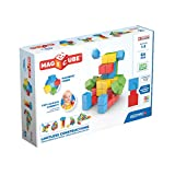 Geomag Magnetic Toys, Toddler Magnets, STEM-endorsed Educational Building Cube Set Made from Recycled Plastic, 64 Pieces, Ages 1-5