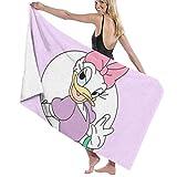 Suzzc Daisy Donald Duck Beach Towels Bath Pool Towel 32x52 for Women Kids Girls Boys Adults Men