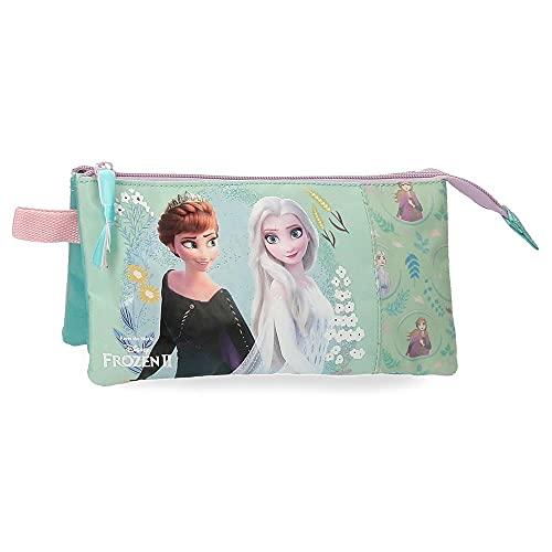 Disney Frozen Follow Your Dreams Estuche Triple Azul 22x12x5 cms Poliéster