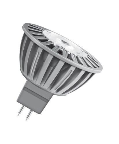 Osram LED Superstar MR16 5W entspricht 35 W, Sockel Gu5,3, 12 Volt, Reflektorlampenform, 50 mm, 24° dimmbar, 850 cd, warmton (830) 682703