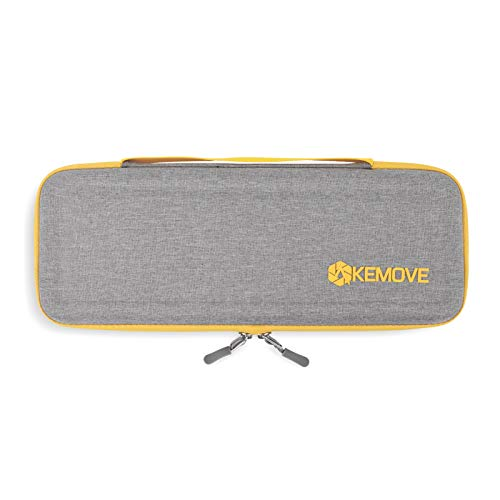 KEMOVE X DIERYA Keyboard Travel Case, Hard EVA Sleeve Carrying Cover Bag for 65% 60% Wireless Bluetooth Mechanical Gaming Keyboard (14.2