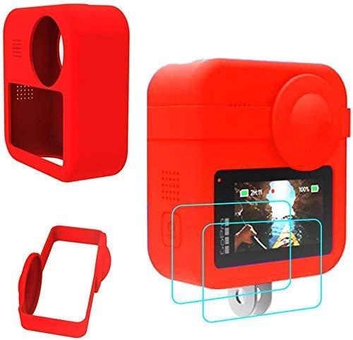 Taoric Siliconen beschermhoes voor GoPro MAX + Lens Protective Cover + 2 beschermende folie