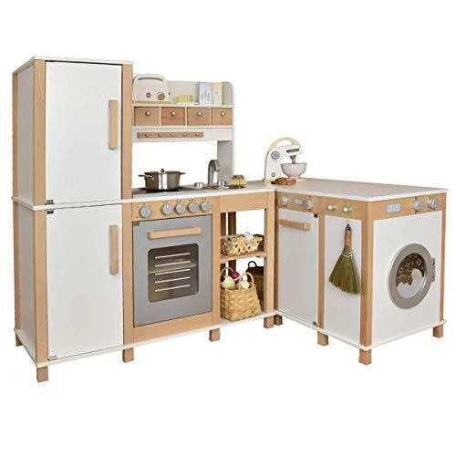 Neu Sun Kinderküche Flexi - Weiss / Spielküche aus Holz mit vielen Kombinationsmöglichkeiten