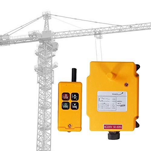 MXBAOHENG Mando Puente Grua Mando para Grua Control Remoto de Grúa Inalámbrico Control Remoto de Elevación Industrial Receptor y Transmisor 4 Canales HS-4 220 V