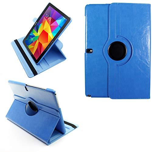 COOVY® 2.0 Cover für Samsung Galaxy Note PRO 12.2 SM-P900 SM-P901 SM-P905 Rotation 360° Smart Hülle Tasche Etui Hülle Schutz Ständer | hellblau