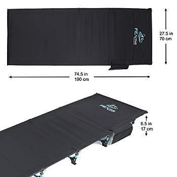 FE Active Lit Pliant Compact - Lit de Camp Portable Ultra léger Solide et Durable. Confortable pour Adultes et Enfants. Idéal pour Le Camping, s'adapte au Matelas Gonflable   Conçu en Californie
