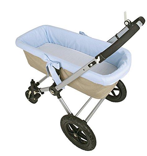 Funda interior azul para capazo de bebé