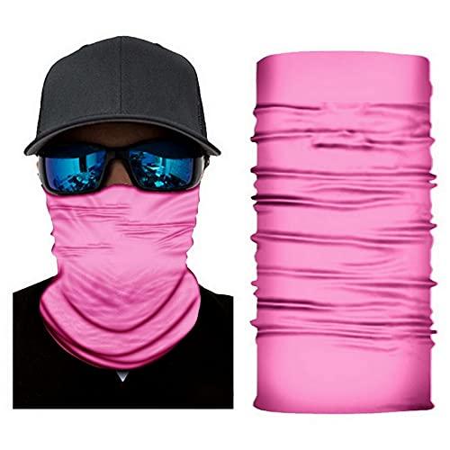 Elite1 Buff Neck Gaiter – Versatile Face Covering Mask – Breathable Face Bandana (All Pink)