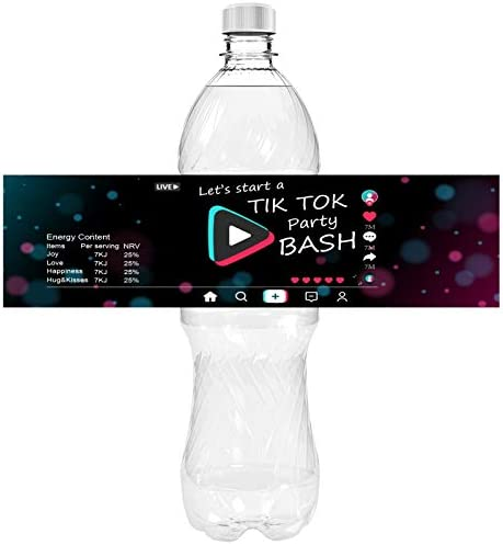 Happybell Water Bottle Stickers for TIK Tok Party Decorations Party Bash Waterproof Water Bottle product image