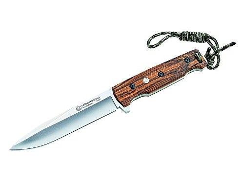 Puma IP Gürtelmesser, Stahl an.58, Full Tang, Feuerstarter, Bokote-Griffschalen,Fangriemen-Oese, Lederscheide Jagd-/Outdoormesser