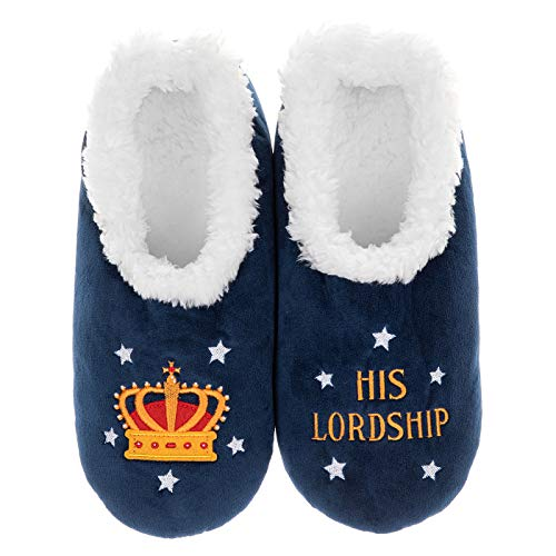 Snoozies Pairables Super Soft Sherpa Mens House Slippers - His Lordship...