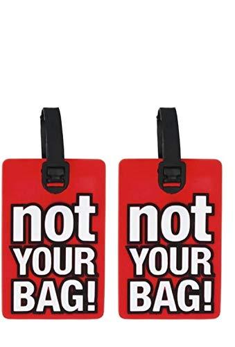 Schone Products (UK) bagagli features facile identificazione–realizzata in gomma resistente e durevole (confezione da 2, rosso)