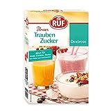 RUF Traubenzucker, fructose-frei, Dextrose, D-Glucose, Alternative zu Haushalts-Zucker, ideal für Diabetiker, Sport, Getränke, Kochen & Backen, 400g