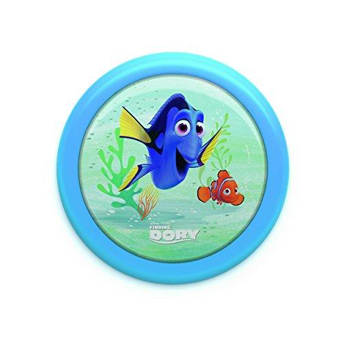 Philips 7192435P0 Disney An/Aus Nachtlicht Finding Dory, 5 lm, Plastik, 0,6 W Integriert, blau, 12 x 12 x 24,9 cm