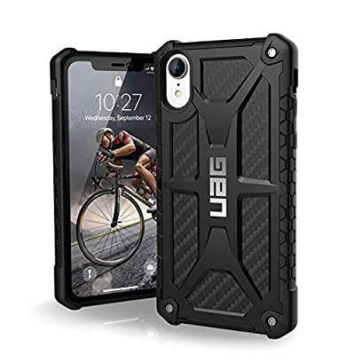 "URBAN ARMOR GEAR UAG iPhone XR [6.1"" Screen] Monarch Feather-Light Rugged [Carbon Fiber] Military Drop Tested iPhone Case"