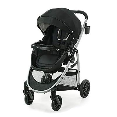 Graco Modes Pramette Stroller, Baby Stroller with True Bassinet Mode, Reversible Seat, One Hand Fold, Extra Storage, Child Tray, Pierce from AmazonUs/GRAR9