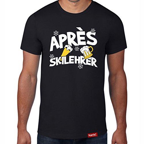 Hariz Après Ski profesor // Camiseta original – Seis colores, XS – 4XXL // Esquí de conducción con frases divertidas «Party – deportes de invierno # Apres Ski Collection negro XXXXL