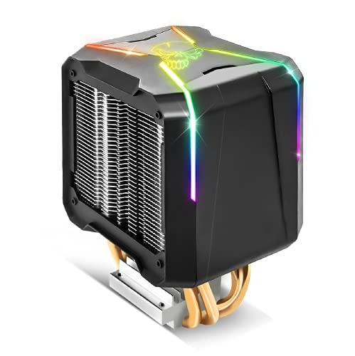 Spirit Of Gamer - Aircooler Pro RGB - Ventirad For Intel And AMD Processors - RGB Backlighting Addressable 3 Pin / 5 Volts - 92mm Fan - Dual Aluminium Heatsink