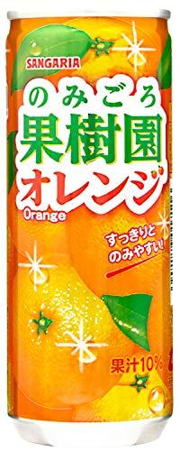 サンガリア のみごろ果樹園 オレンジ 240g×30本